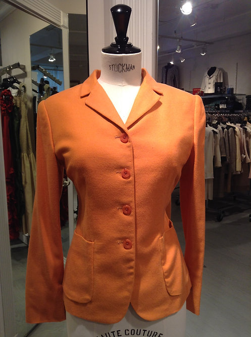Notched Collar 4 Button Jacket