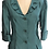 Thumbnail: Teal Silk Ruffle Collar Cocktail Flash Jacket