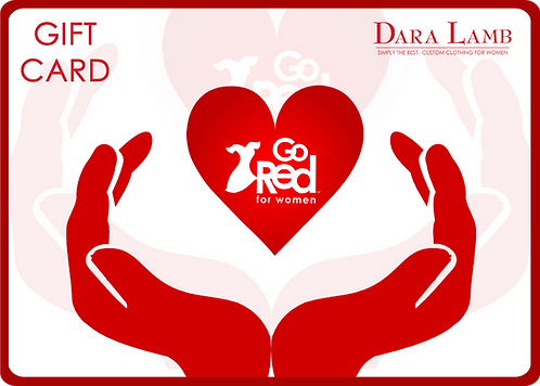$1000 GO Red for Women Gift Card