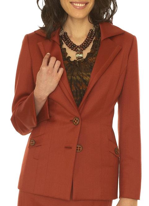 Rust Overlay Collar 2 Button Jacket
