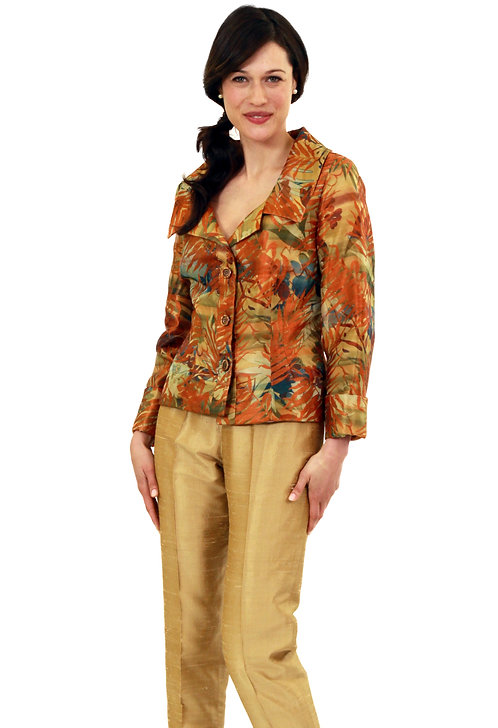 Fall Jacquard Softly Tailored 3 Button Jacket