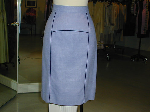 Straight Paneled Skirt