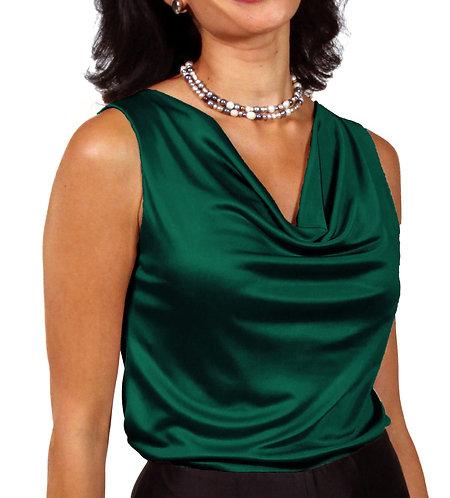 Cowl Neck - Emerald