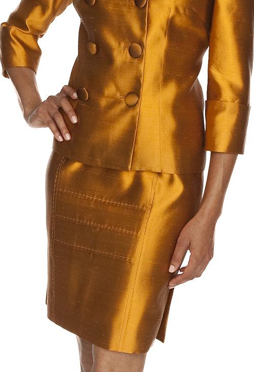 Straight Skirt w/ Panel Detail