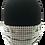 Thumbnail: White/Grey basketweave 100% Cotton Mask w/Filter Pocket