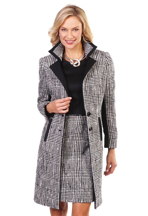 2 Button Notch Lapel 3/4 Length Coat