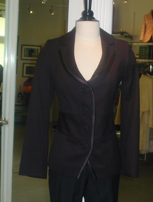 Shawl Collar Jacket w/ Trim