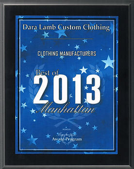 Best Clothing Manufacturer of 2013 Award