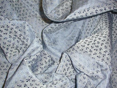 Blue Textured Silk Jacquard