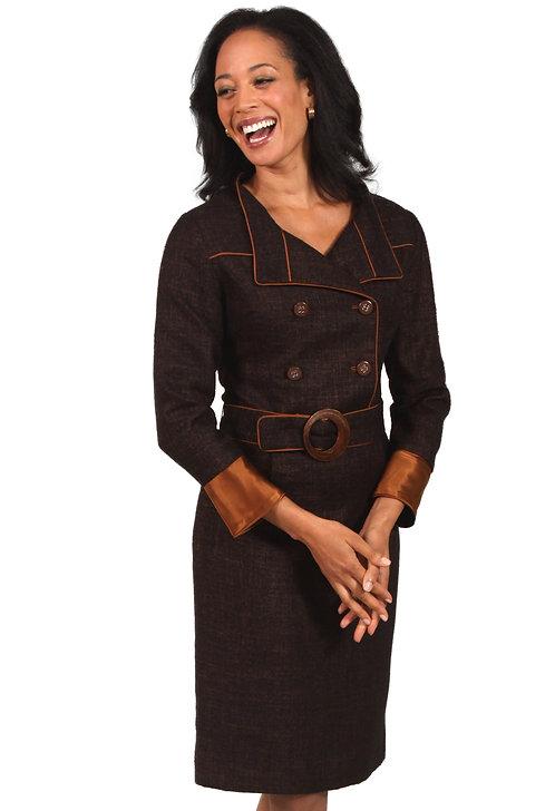 Double-Breasted Coat Dress w/ Belt