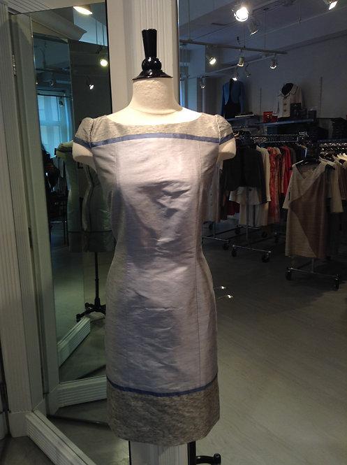 Boatneck Cap Sleeve Dress w/ Yoke & Slight A-Line