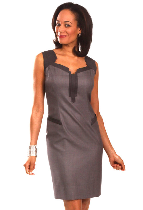 Empire State Inspired Dress w/ Trim Detail