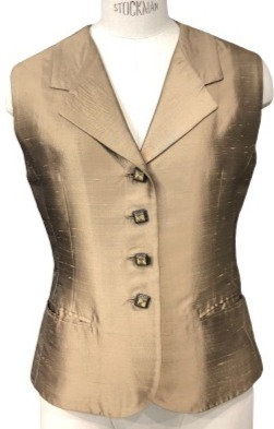 Champagne Italian Silk Shantung Cocktail Vest