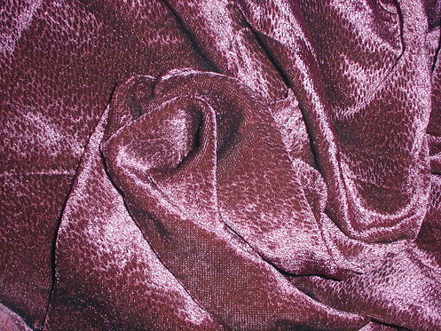 Deep Magenta Textured Silk Velvet