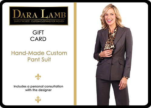 Gift Card - DARA LAMB  Bespoke Pant Suit