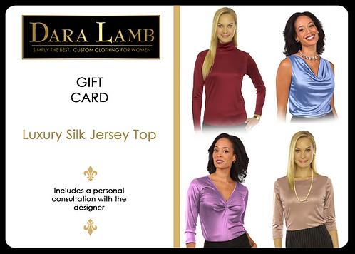 Luxury Silk Jersey Top