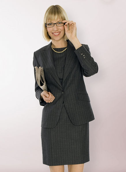 Pinstripe Dress Suit