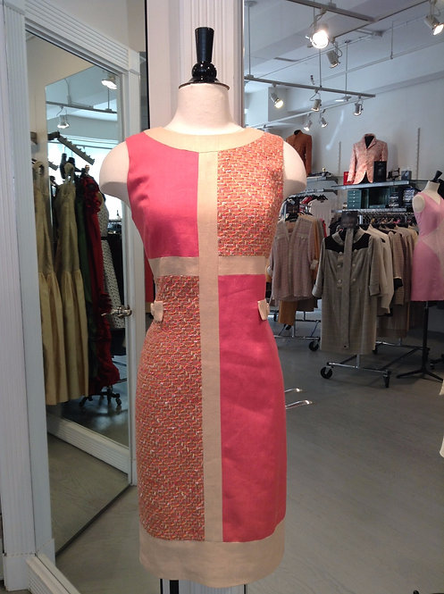 Round Neck Mondrian Dress