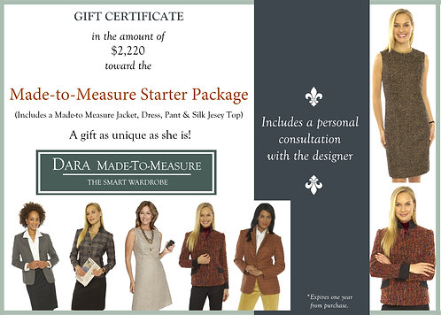 Gift Certificate-DARA Made to Measure Dress Suit