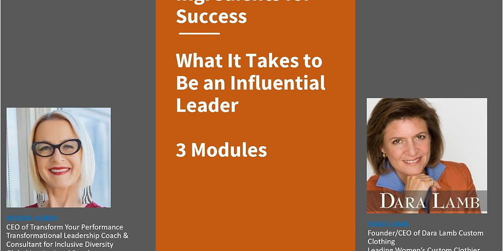 3 Module Sessions: Ingredients for Success (1)