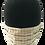 Thumbnail: Ivory/Brown/Orange Check 100% Cotton Mask w/Filter Pocket