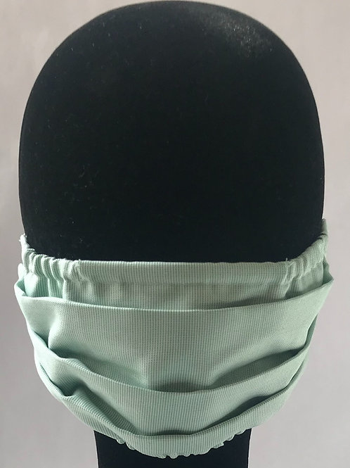Green textured 100% Cotton Mask w/Filter Pocket