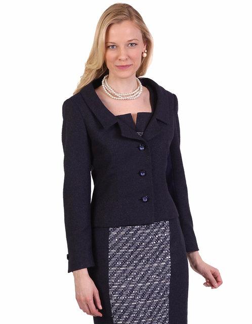 Portrait Notched 3 Button Jacket
