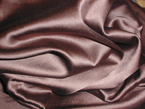 Chocolate Brown Silk Charmeuse