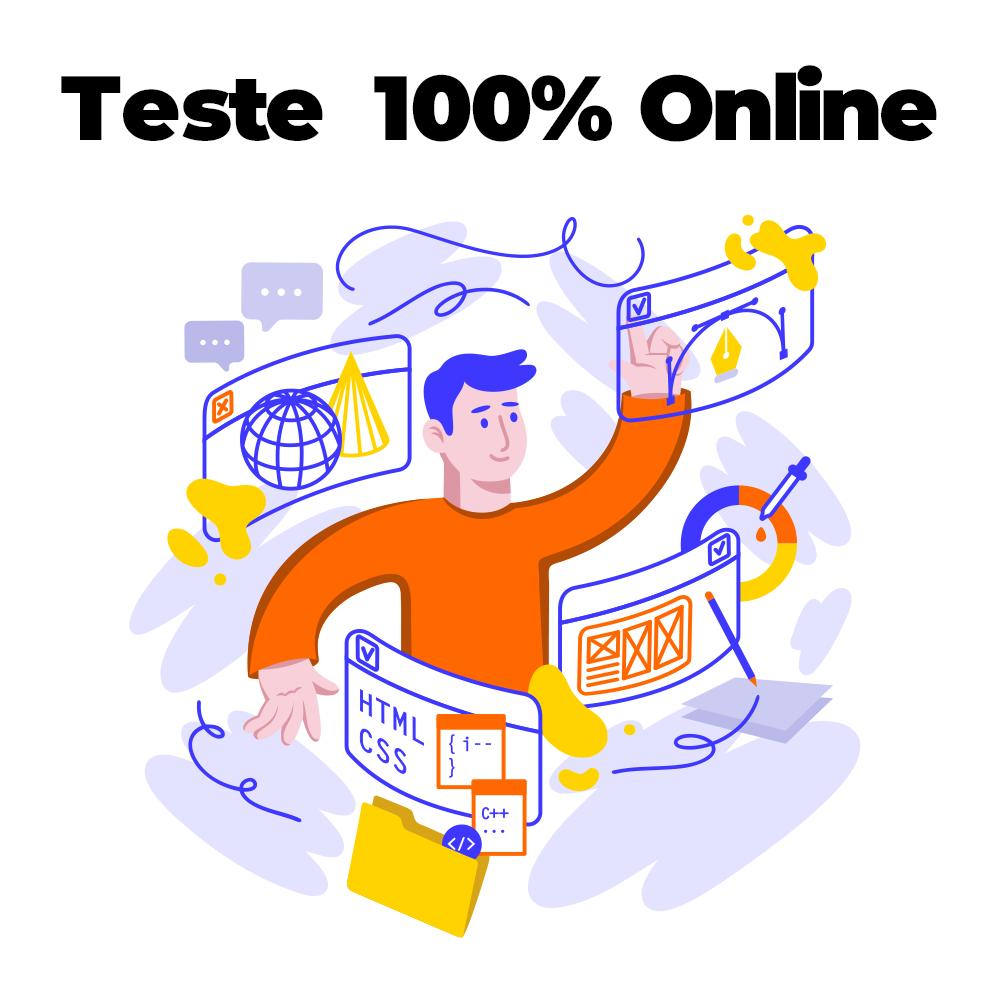 Teste 100% ONLINE