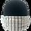 Thumbnail: White w/ Black dotted Stripe 100% Cotton Mask w/Filter Pocket