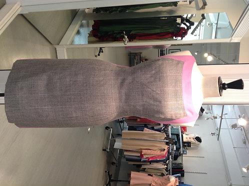 Boatneck Sheath Dress w/ Trim