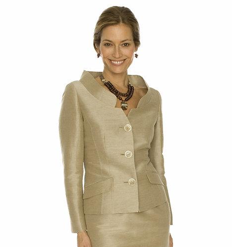 Portrait Mandarin Collar 3 Button Jacket