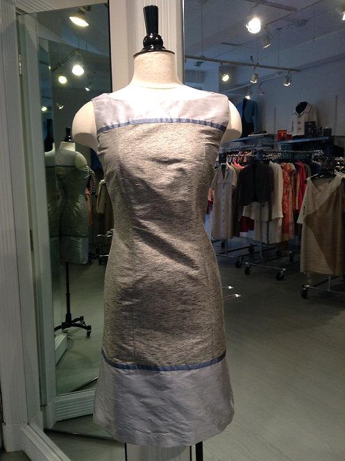 Boatneck Cap Sleeveless Dress w/ Yoke