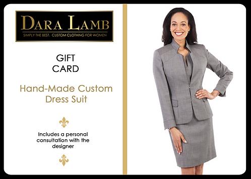 Gift Certificate for DARA LAMB Custom Dress Suit