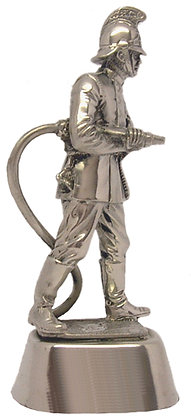 #672 Pewter Firefighter Statue