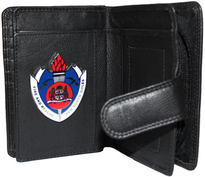 #290 Wallet Ladies Black 15 Card, with FRNSW Badge