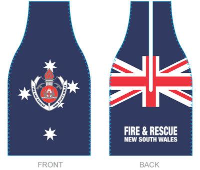 #2203 Bottle Cooler Zip Aussie Flag & FRNSW Logo