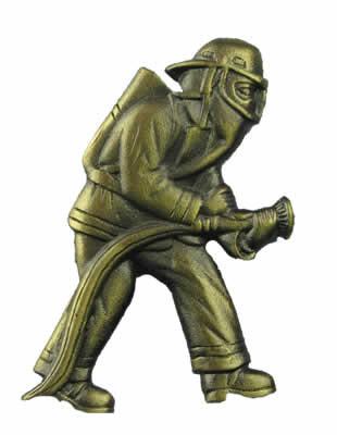 #624 Trophy Mount Firefighter in BA