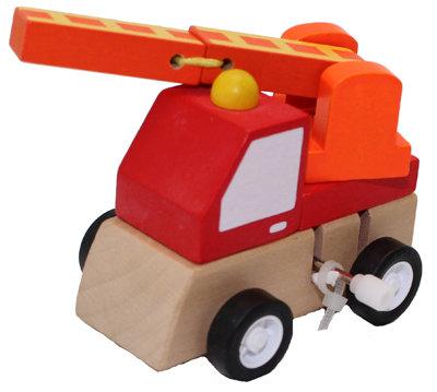 #2055 Wooden Windup Engine