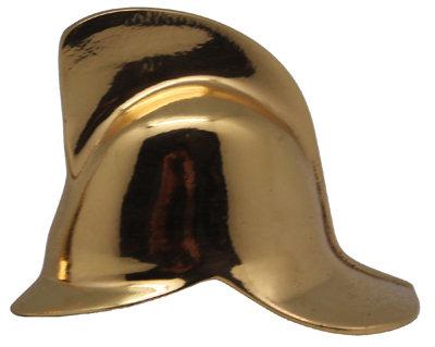 #1888 Half Brass Helmet Facing Right