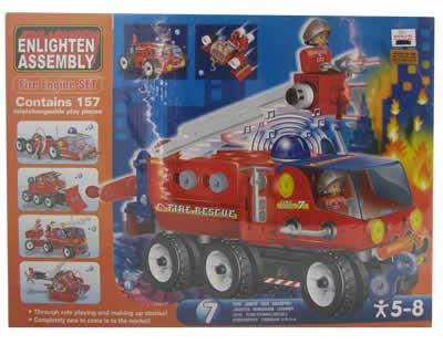 #454 Building Pieces Fire Engine Set