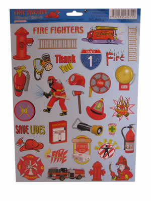 #1201 Fire Themed Stickers