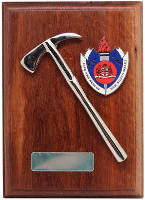 #9908 Plague FRNSW Badge & Brass Axe