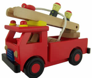 #864 Wooden Fire Engine