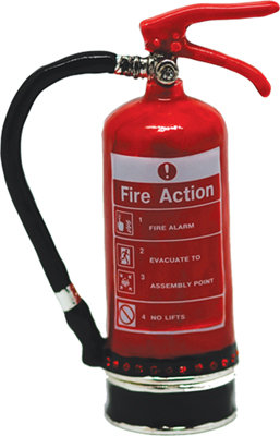 #1069 Trinket Box - Fire Extinguisher