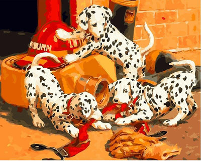 #1093 Paint by Numbers Dalmatians