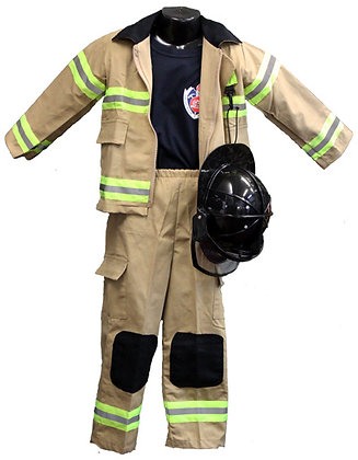 #1040 Firefighter Kids Uniform Different Sizes
