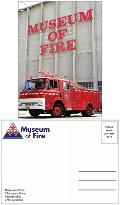#1066 Postcard Museum Of Fire 1969 Ford