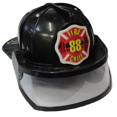 #1112 Black Helmet Plastic + Visor