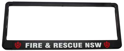 #1184 Fire & Rescue Number Plate Frame